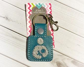Breastfeeding Keychain - Nursing Keychain - Breastfeeding Awareness - Crunchy Mama Keychain - Breastfeeding Key Chain - Baby Shower Gift