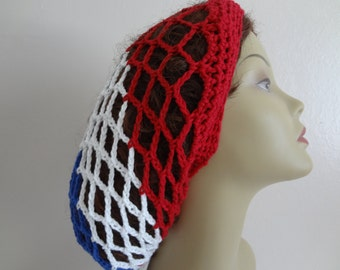 COTTON Mesh Hat - Mesh Slouchy Hat - Snood Mesh Hat - Slouchy Snood - Made In All Sizes - Handmade