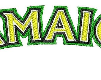 Jamaica inscription Machine Embroidery Design INSTANT Download