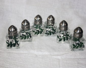 Vintage Set of 6 Small Salt and Pepper Shakers 3 Pairs of 2 Hand Painted