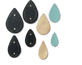 ITEM 660592 | Sizzix® Movers & Shapers™ Magnetic Die Set - Teardrop Stack by Jill MacKay®