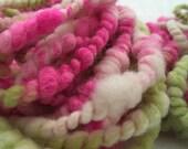 Alpaca The Picnic - Super Coil Handspun Art Yarn - 2 mini skeins - 21 yards Total