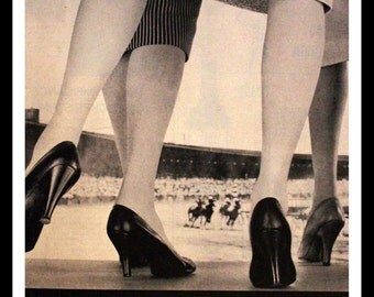 1956 Hanes Hosiery Ad - Nylons - Nylon - Stockings - Seamlesss - Lingerie - Wall Art - Home Decor -  Retro Vintage Fashion Advertising