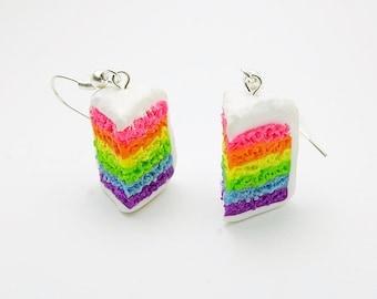 Gay Rainbow Cake Earrings
