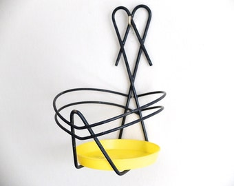 French vintage wall plant stand - 1950s