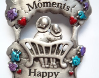 Vintage Signed JJ Brooch/Pin Silvertone Special Moments Happy Mothers Day