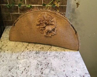 Natural Burlap/Placemat Clutch/Purse