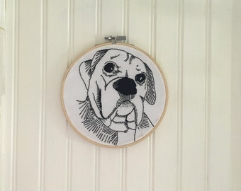 Custom embroidered family/pet portraits