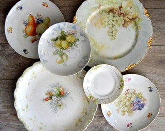 Mismatched Plates Instant Plate Collection, Plate Wall, Pale Green
