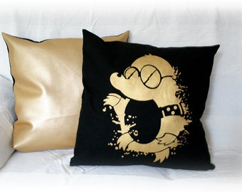 Pillow Mole gold 50x50cm