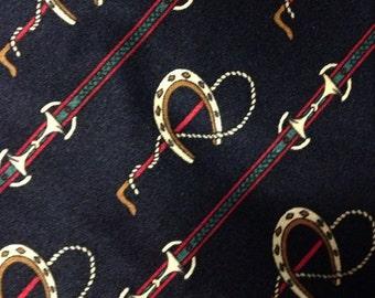 Vintage Sensabang Equestrian Design Necktie