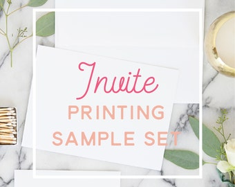 Invitations Printing - Sample Set