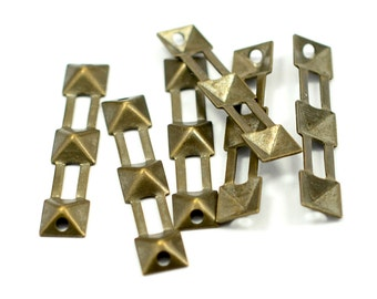 50 Pcs. Antique Brass 6x30 mm Square Findings