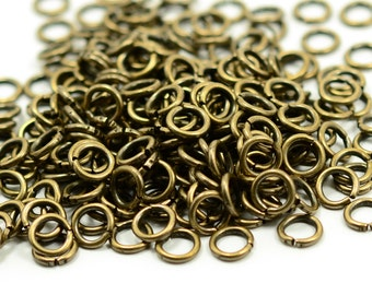 100 pcs. Antique Brass 7 mm  Strong Jump Ring Thick 1.2 mm ( 16 ga )