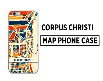 Corpus Christi Map Phone Case - Corpus Christi iPhone Case - iPhone 6 Case - iPhone 5 Case - iPhone 7 Case