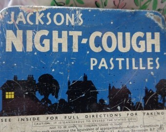 Jacksons Night-Cough Pastilles Vintage Tin