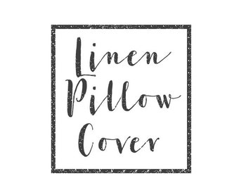 Linen pillow cover for Edith Torres