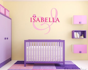 Musical Notes Name Monogram Wall Decal Boys Girls Nursery Room - Monogram wall decal for nursery