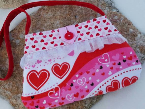 Valentine's Day Toddler Purse, Girl's  Heart Purse