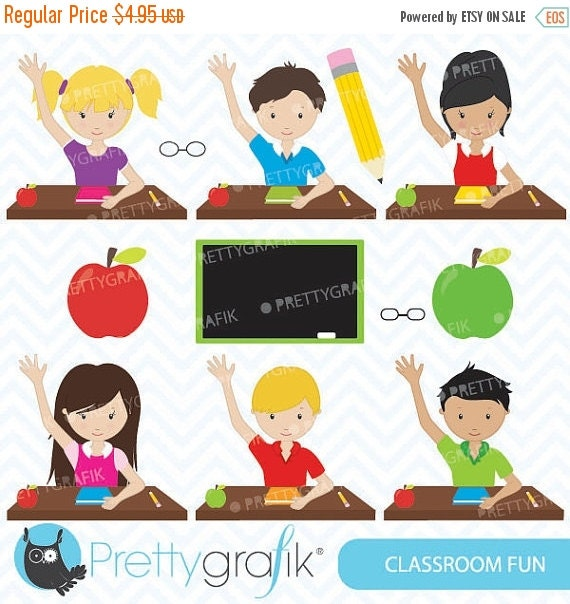 Classroom Layout Clipart ~ Off sale classroom students clipart for scrapbooking