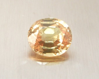Peach Sapphire 3.11 carats oval cut IF to VVS clarity -  Loose Gemstone