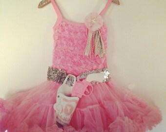 Little Cowgirl Princess Pink Pettidress Set