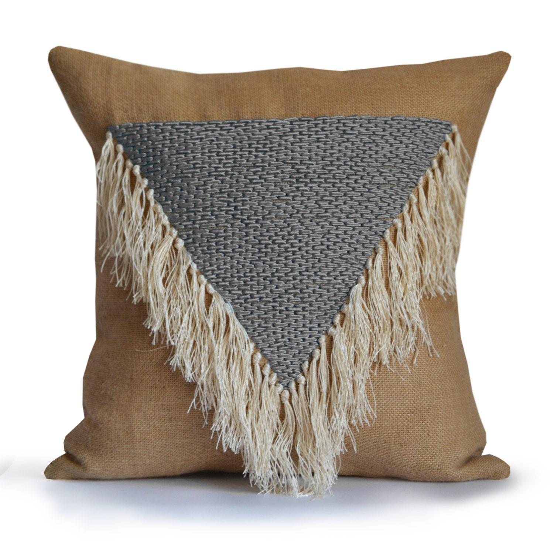 Boho Throw Pillows Geometric Decorative Pillow Cover Shaggy