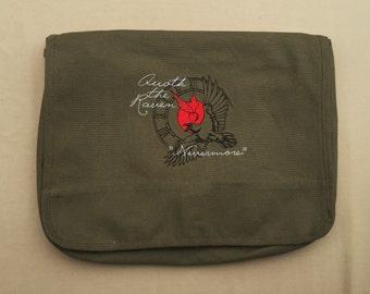 Raven (Edgar Allan Poe) Embroidered Messenger Bag (Home Embroidered)