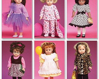 """McCalls 6005, 18"""" Doll Clothes Sewing Pattern DIY Doll Clothes and Accessories, New Uncut Sewing Pattern, Make all these clothes one pattern"""