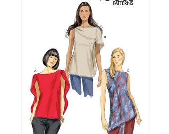 Vogue 8907, Vogue Top Sewing Pattern, Misses Top and Tunic New Uncut Sewing Pattern, Size Lrg-Xlg-XXl