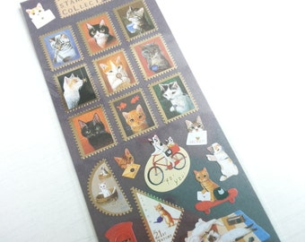 Lovely  Cat  Paper Sticker  - 1 Sheet