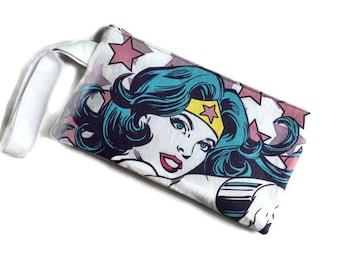 Wonder Woman Bag • Handbag • Upcycled T-shirt Purse • Superhero Clutch • Wonder Woman Gift