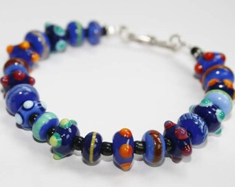 Motley Hues Bracelet-blue