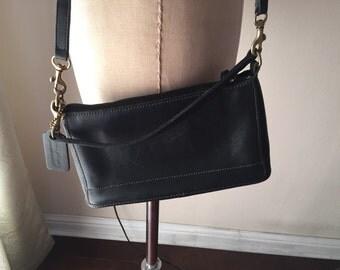 Vintage COACH Black Leather Small Purse