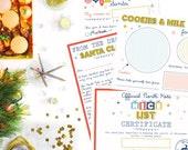 Christmas Activity Holiday Pack - Letter to Santa - Santa Claus - Kid's DIY Downloadable PDF Printable Digital File - Print at Home