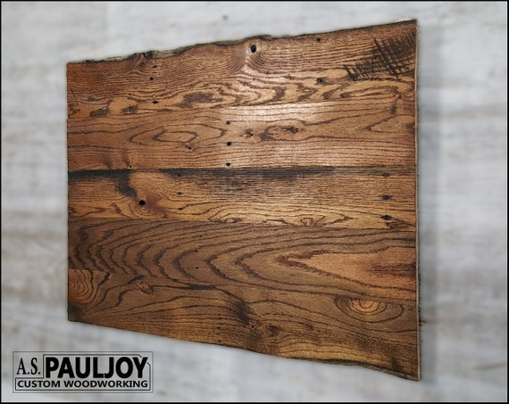Blank Distressed Pallet Canvas Wall Hanging Oak Patina