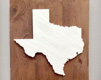 """Handcrafted State Wood Cutout Wall Decor (Large 17x17"""") - Solid Wooden Wall Art Home Decor **AUGUST SALE** #California #Texas #anystate"""