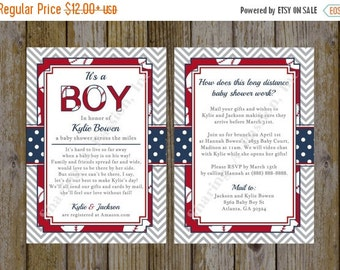 Long Distance Baby Shower Invitation - Shower By Mail Invite - Virtual Baby Shower Invitation - Baseball Invitation - Baseball Baby Shower