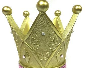 Baby Shower 1st Birthday Girls Crown Cake Top Centerpiece Decoration