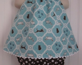 Toddler Girl Dress and Bloomers Set Size 1 Sunsuit Playsuit