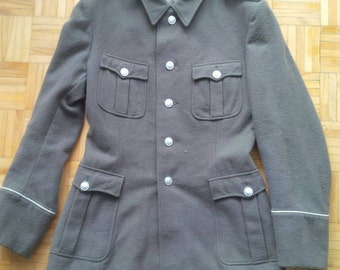 East German Tunic - Size 36 - Enlisted Mans tunic with Insignia in pocket - Combat Jacket