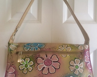 Hand painted purse- Daisy Days