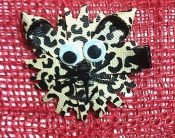 Cat (Leopard Print) Hair Clip