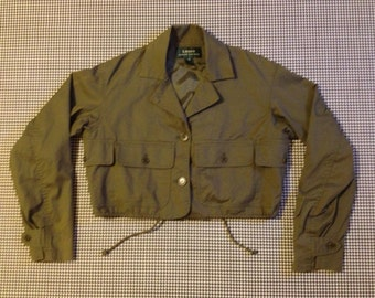 1990's, cropped, cargo pocket, army style, jacket, by Ralph Lauren, Women's size Medium