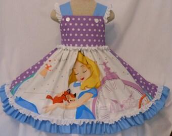 Alice in Wonderland Dress, Custom Boutique Alice Storybook, Inspired, Unique, Easter, Handmade, Alice In Wonderland Dress, Birthday Dress,