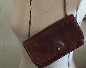 "Italian Leather Handbag, Made By ""The Bridge""...Free Shipping..20% Off Coupon..TAKE20"