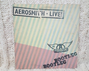 "Aerosmith - ""Live Bootleg"" vinyl record, 2 LPs"