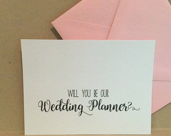 Will You Be My Wedding Planner Coordinator Card Cards Proposal {style 2}