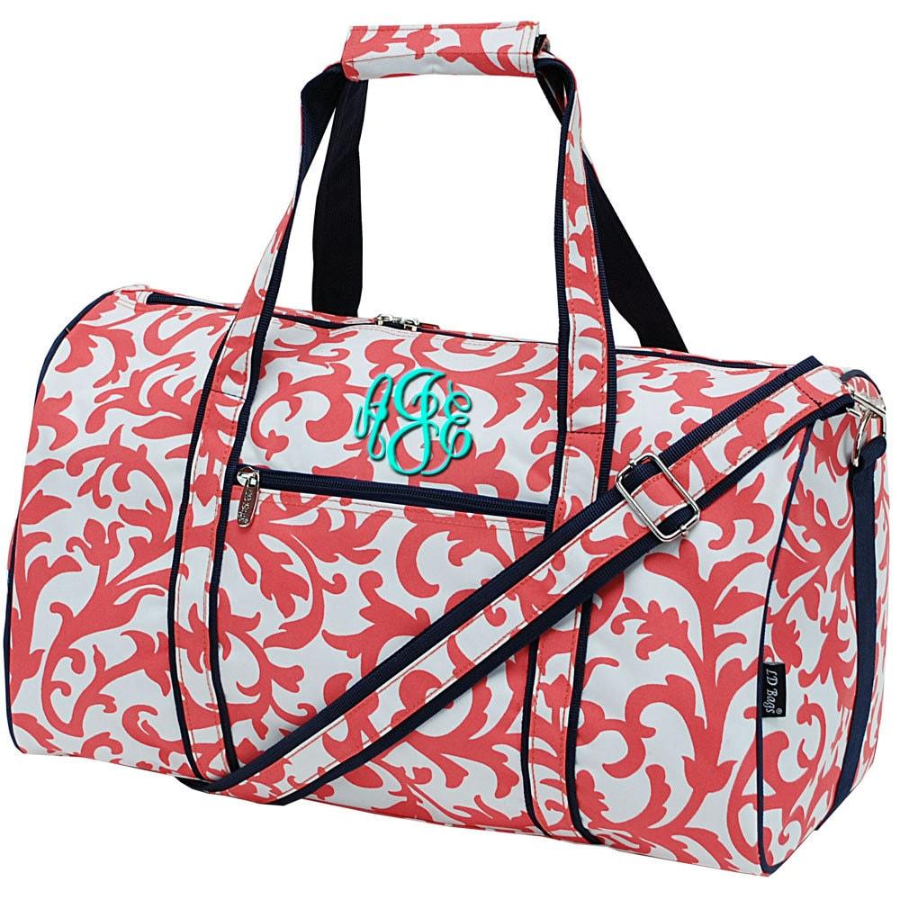 monogram duffel bags personalized duffle bag womens