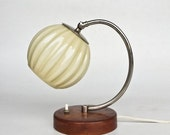 20% OFF Art Deco Wooden Table Lamp  / Bedside Light / 40s Europe